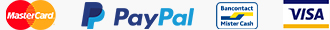 Paiement par MasterCard, PayPal, Bancontact, Visa